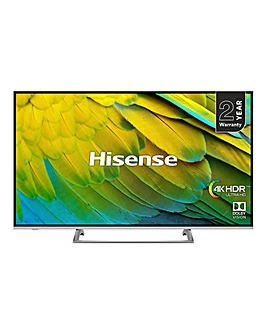 Hisense H50B7500UK 4K Smart 50in TV+Ins