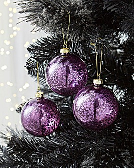 6 Shiny Purple Baubles