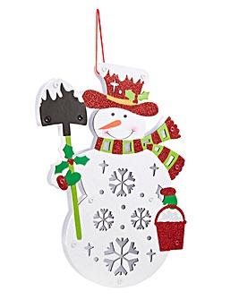 BO Lit Snowman Decoration