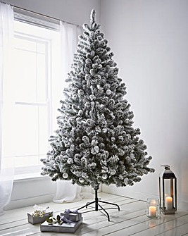 8ft Woodcote Spruce Flocked Tree