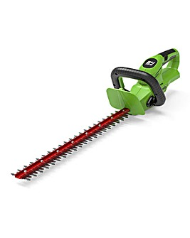 Greenworks 24V Cordless 56cm Hedge Trimmer with 2ah Battery & Charger