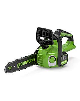 Greenworks 24V Cordless 30cm Brushless Chainsaw (Tool Only)