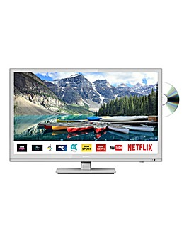 Sharp LC-24DHG6001KFW 24in HD Ready Smart TV Combi White