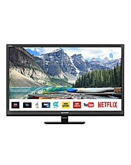 Sharp 24in HD Ready Smart TV Combi Black