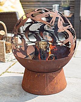 La Hacienda Swallows Globe - Mini Oxidised Globe