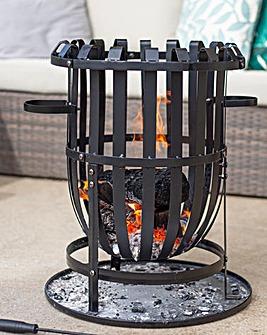 La Hacienda Vancouver Steel Firebasket with Grill 40C