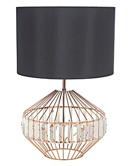 Kristal Copper Table Lamp