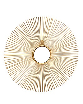 Gold Starburst Decorative Mirror