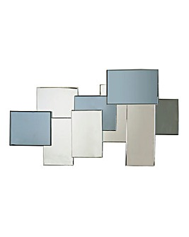 Smoked Glass Rectangular Cluster Mirror
