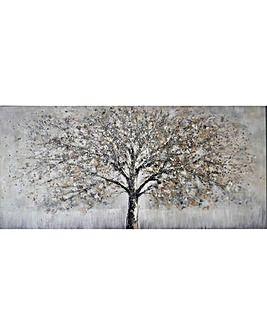 Embellished Handpainted Tree Canvas