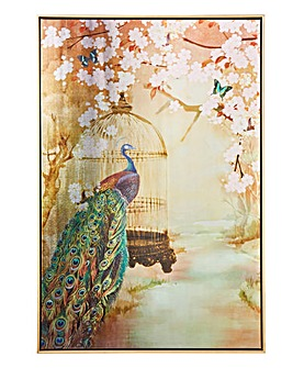 Suki Watercolour Metallic Framed Canvas