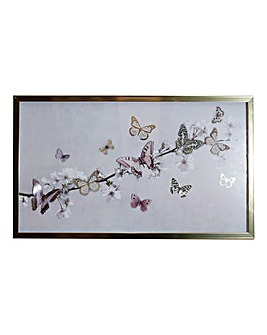 3D Butterfly Framed Print with Gold Foil