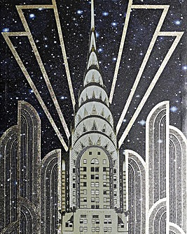 Gold Empire State Gloss Canvas