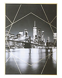 Contemporary New York Framed Canvas