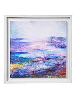 Purple Hue Hand Painted Framed Canvas