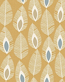 Arthouse Retro Feather Wallpaper