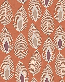 Arthouse Retro Feather Wallpaper