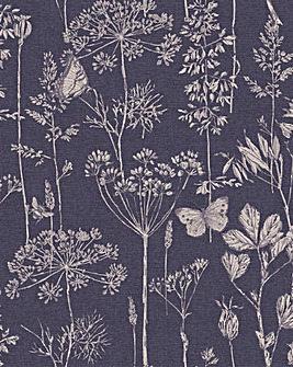 Arthouse Meadow Sketch Wallpaper