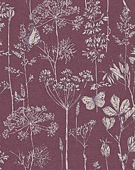 Arthouse Meadow Sketch Wallpaper