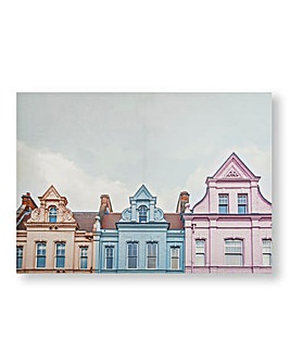 Pastel Europe Skyline Canvas