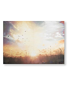 Serene Sunset Meadow Canvas