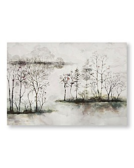 Watercolour Forest Printed Canvas
