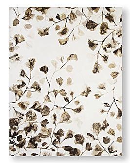 Sepia Leaf Trail Canvas