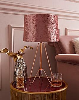 Ziggy Crushed Velvet Table Lamp