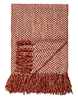 Cascade Diamond Chenille Throw