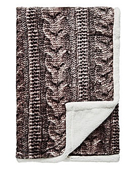Cascade Printed Knit Throw