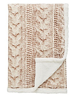 Cascade Printed Knit Throw