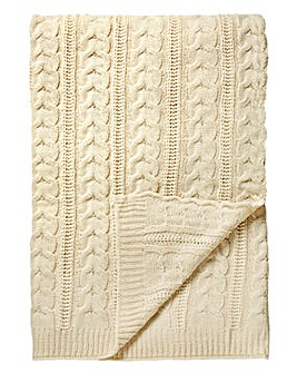 Cascade Knitted Throw