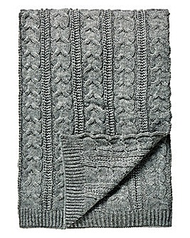 Cascade Knitted Throw