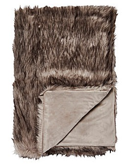 Cascade Luxury Faux Fur Throw