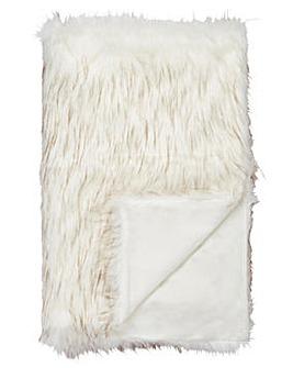 Cascade Luxury Faux Fur Throw