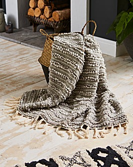 Hand Woven Boucle Throw