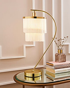 Fringe Arc Table Lamp