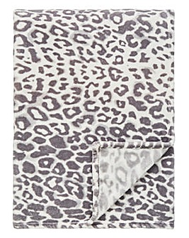 Leopard Print Fleece Throw