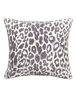 Leopard Print Fleece Cushion