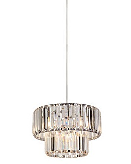 Temi Acrylic Drop Easy Fit Pendant