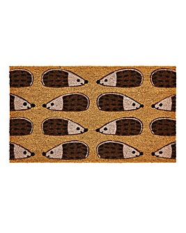 Hedgehog Printed Coir Doormat