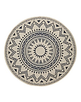 Liberty Round Patterned Rug
