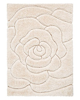 Floral Carved Shaggy Rug