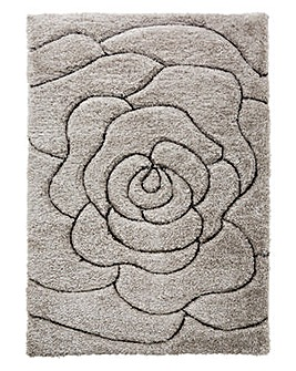 Floral Carved Shaggy Rug