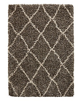 Diamond Marl Shaggy Rug