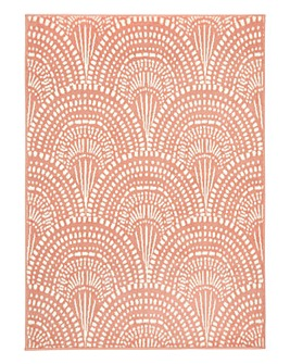 Deco Fan Patterned Rug