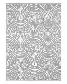 Deco Fan Patterned Rug Large