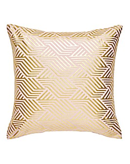 Gold Foil Printed Blush Cushion