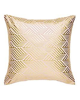 Gold Foil Printed Blush Cushion