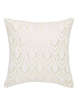 Blush Art Deco Print Cushion